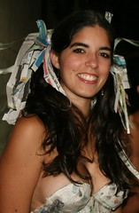 Paper suit! (RMeneses) Tags: woman beautiful beauty smile lady mujer pretty painted gorgeous sonrisa latina