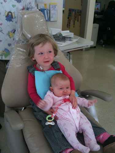 esther at the dentist with dottie