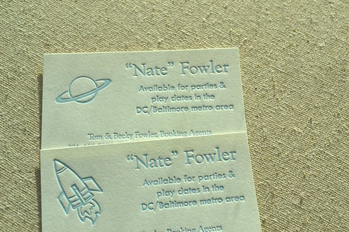 Nathaniel's calling cards