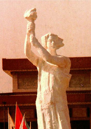 diosa de la democracia