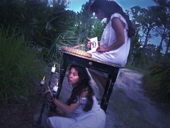 teaching snakes to read (Daneli) Tags: selfportrait art me photoshop myself candles artistic florida dana clones dreams rattlesnake verobeach sleepwalking artlibre daneli ilovemysnake