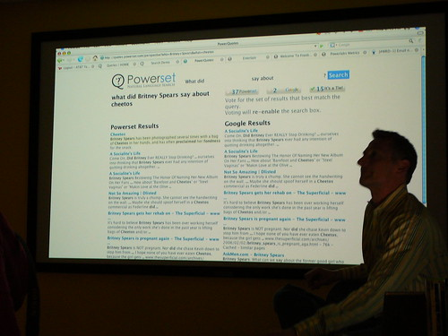 Scott presents demo search results