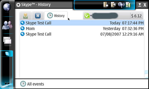 Skype history