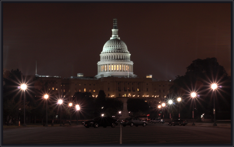Night view of the Capitol