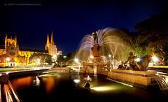 Archibald Fountain (#405) (Christopher Chan) Tags: fountain night canon sydney australia nsw newsouthwales hydepark slideshow archibaldfountain 1022mm stmaryscathedral i500 anawesomeshot diamondclassphotographer flickrdiamond bestofaustralia
