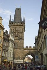 Praga: Torre del ponte di Mala Strana (Gaspa) Tags: prague prag praha praga charlesbridge repubblica staremesto malastrana novemesto ceca pontecarlo