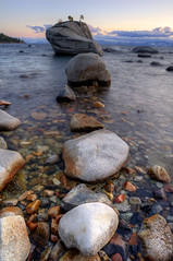 Bonsai Rock Sunset (David Shield Photography) Tags: sunset lake color water rocks nevada laketahoe sierras inclinevillage sandharbor crystalbay flickraward nikond700 nikonflickraward bonsairock platinumpeaceaward naturesgreenpeace onlythebestofnature