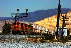 Watercolor Filter Works Fine (greenthumb_38) Tags: railroad train locomotive tehachapi canon40d mojavesub jeffreybass tehachapidaytrip5292010