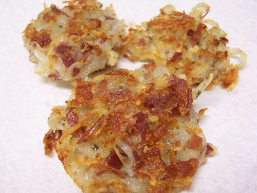 Potato Pancakes w/Katenspeck and Cheese