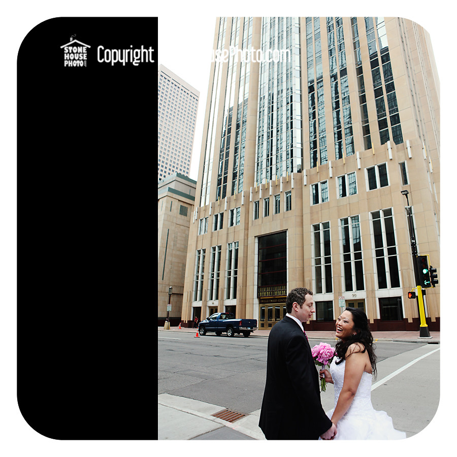 wedding photos in downtown Minneapolis