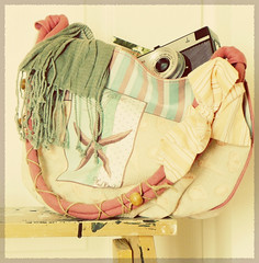 my equipment for a summer day out :) (sma_kee) Tags: camera summer scarf bag starfish vintagecamera tote smena creamy beachbag summerday stripedscarf vintagetones beachtote starfishsummerbag myfathersoldcamera agoodbooktoread dreamytones