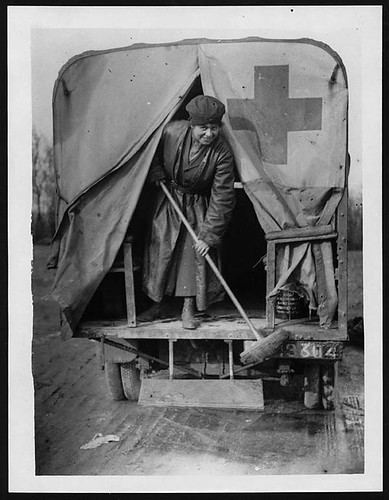 Member of the First Aid Nursing Yeomanry cleaning…