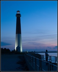 Evening, Barnegat Lighthouse (Tony Fischer Photography) Tags: blue lighthouse night evening newjersey nightshot nj lbi longbeachisland barnegat barnegatlighthouse oldbarney abigfave