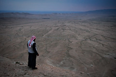 Drought country (Lil [Kristen Elsby]) Tags: topf25 view desert dusk middleeast dry fromabove frombehind drought getty syria editorial mountainview palmyra arid homs gettyimages bedouin topv7777 travelphotography hims tadmor tadmur