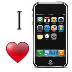 i love iPhone logo