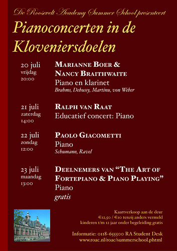 Fortepiano and violin concert poster