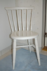 White chair for mom's craft room