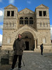 Mount Tabor - Me in front of Church of the Transfiguration