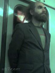 Grigori Perelman en el metro de San Petersburgo-2