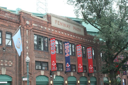 Fenway Park entry with pennants