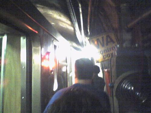 Evacuating a CTA train