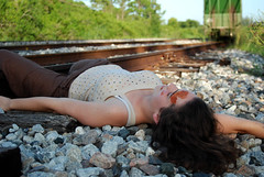 The Deaf Jogger (wander.lust) Tags: railroad green girl train death hit blood nikon die accident tracks luck deaf dslr tragic jogger unlucky rundown tangled cadaver runover mauled d80 necrophelia