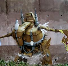 Robot Again (Fat Heat .hu) Tags: graffiti robot 3d heat obie dz cfs coloredeffects fatheat