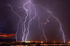 Lightning on 8-23-2007 over Albuquerque NM (lghtnngbg) Tags: new longexposure light storm luz nature water rain weather clouds mexico eau lumire pluie albuquerque electricity strike lightning nuages temps thunder orage cumulonimbus tempte mto lectricit mtorologie longueexposition clair longuepose foudre