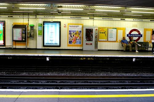 Blackfriars Tube Station by 18percentgrey