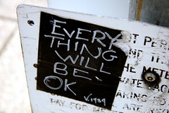 ok (damonabnormal) Tags: street urban philadelphia graffiti stickerart stickers august v phl 07 2007 citystickers streetstickers everythingwillbeok