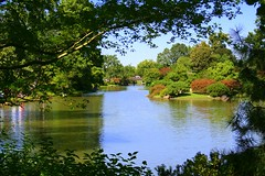 Seiwa-en,   Japanese Garden, Missouri Botanical Garden, St Louis (Cindy) Tags: bridge trees lake tower festival garden landscape botanical japanese grove drum mo missouri shaws henryshaw naturesfinest wonderworld seiwaen mywinners httpwwwmobotorg aplusphoto favoritegarden infinestyle wowiekazowie flickrdiamond goldstaraward