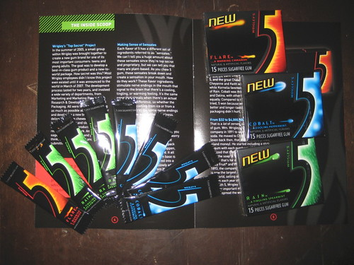 pictures of 5 gum.  sweet package in the mail from BzzAgent for their new 5 gum promotion.