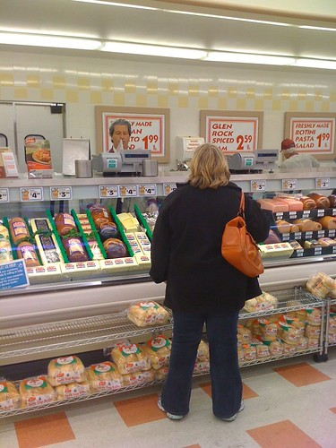 Jen Stares Down the Nazi Deli Counter Man!
