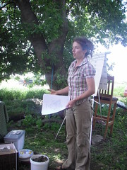 Tarrah Young, presenting her workshop, called 'The Dirt on Soil.'