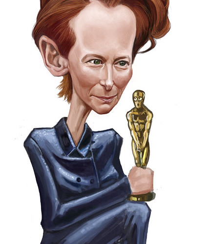 digital caricature of Tilda Swinton - 7