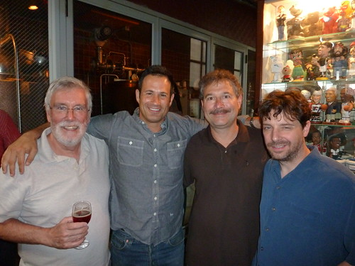 Jack Curtin, Sam Calagione, Ed Friedland and Curt's assistant brewer