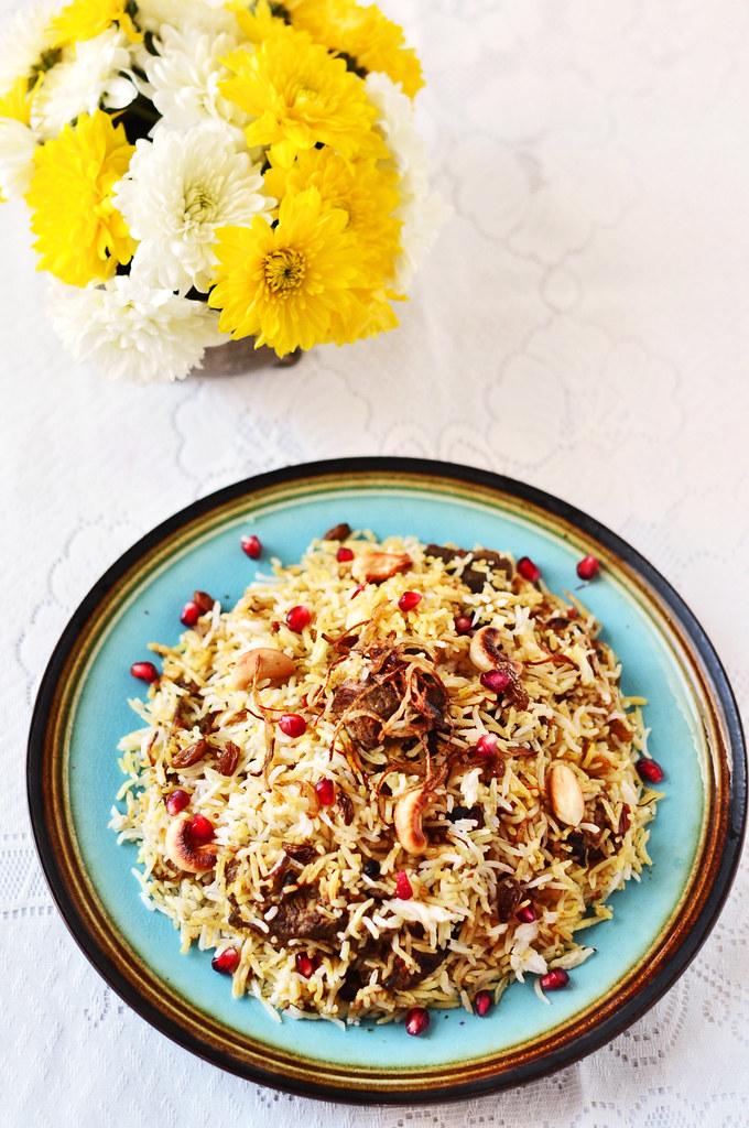 Mutton Biriyani on Plate