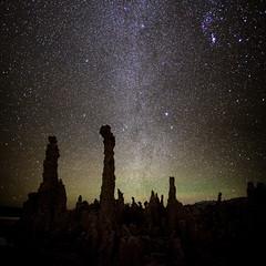East Facing Milky Way at Mono Lake, California (photofanman) Tags: california ca lake nature silhouette canon stars mono stitch south wideangle milkyway tufe vertorama 5dii