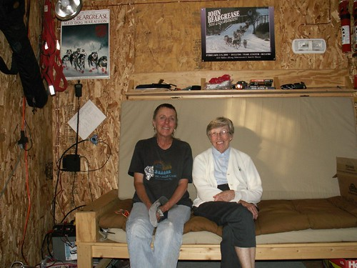 Barb and Joyce in Cabin