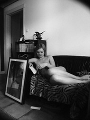On Sunday mornings (ljosberinn) Tags: nude relax sunday read sofa halla chercherlafemme ilikecomments