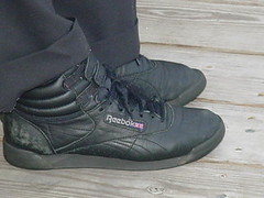 Black Reebok Freestyle hi (Sneaker fan) Tags: black freestyle shoes sneaker reebok