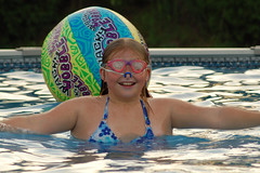 All Set (wishymom (Stephanie Wallace Photography)) Tags: summer pool ball goggles beachball noseplugs