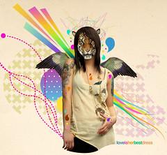 love is her best dress (medialunadegrasa) Tags: illustration women tiger juancarlos