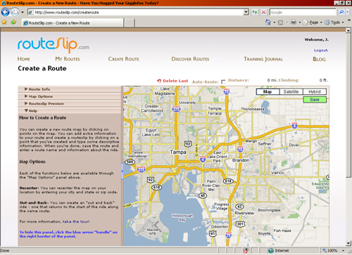 Routeslip.com screenshot