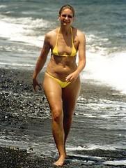 beach stroll (carmenvvv) Tags: sexy feminine bikini thong wife tanga wickedweasel