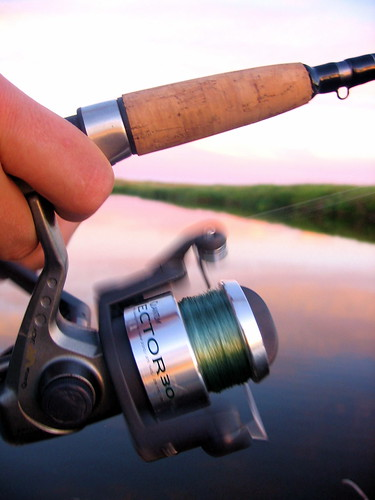 blurry fishing pole reel
