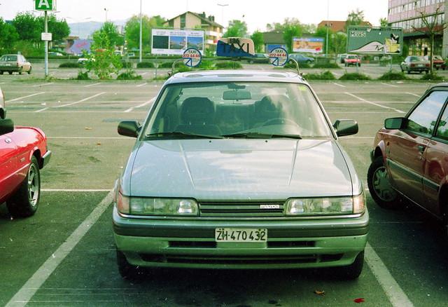 schweiz switzerland taxi zurich 1989 mazda 626 zürichtaxi archiv1989
