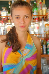 New Girl Evelina (RobW_) Tags: beach august greece waitress monday zakynthos 2007 evelina freddiesbar tsilivi rumanian aug2007 13aug2007