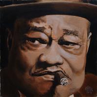 Roosevelt Sykes (Alain Frappier) Tags: portrait peinture toile acrylique formatcarr