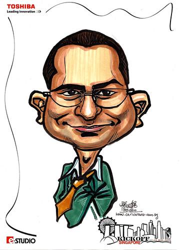 Caricature of Sanjeeva Fernando